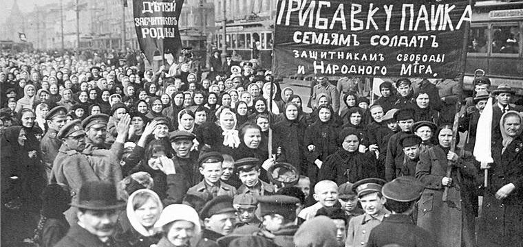 Risultati immagini per manifestazione donne a pietroburgo 1917