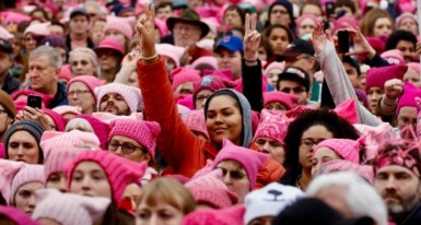 People gather for the Women's March in Washington