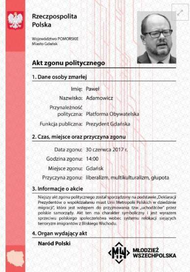 certificato morte politica